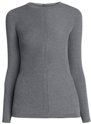 Alexander McQueen Rib-Knit Long-Sleeve Sweater