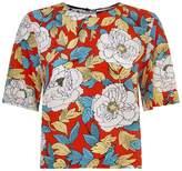 Diane von Furstenberg Floral Crop T-Shirt