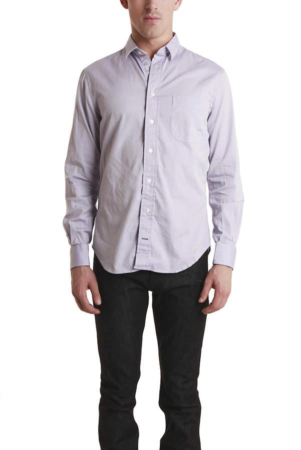 Blue & Cream Blue&Cream Lavender Pinpoint Shirt