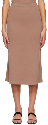 Totême Brown Wool Serpa Skirt
