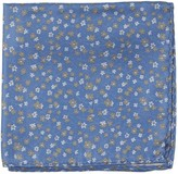 The Tie Bar Light Blue Free Fall Floral Pocket Square