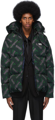 Burberry Green Monogram Puffer Down Dalston Jacket