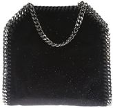 Stella McCartney Glittered Velvet Falabella Tiny Shoulder Bag