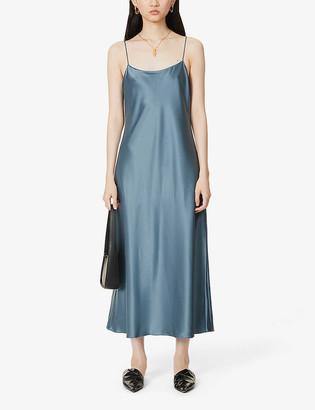 Theory Telson satin midi dress