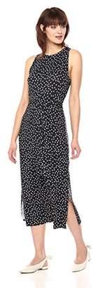 Three Dots Women's Confetti dot Sleeveless mid Loose Dress