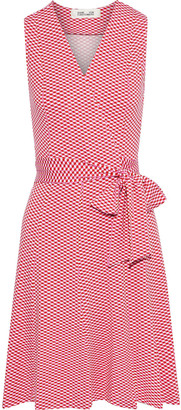 Diane von Furstenberg Jasmine Printed Stretch-jersey Wrap Dress