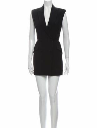Alexander McQueen V-Neck Mini Dress w/ Tags Black