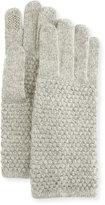 Portolano Popcorn-Knit Tech Gloves