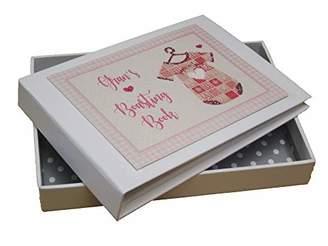White Cotton Cards Gran's Boasting Book Photo Album Pink Vest (PV5T)