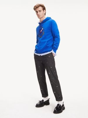Tommy Hilfiger Tapered Novelty Embroidery Flannel Trousers