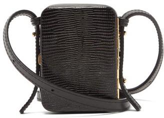 Lutz Morris Norman Mini Lizard-effect Leather Bag - Black