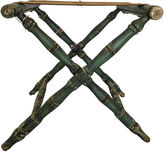 One Kings Lane Vintage Green Bamboo-Style Luggage Stand