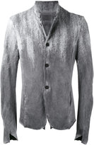 Lost & Found Ria Dunn - frayed trim jacket - men - Cotton - M