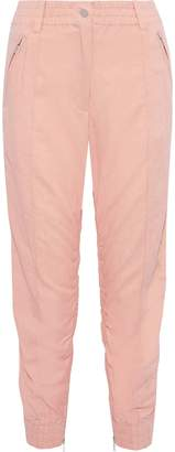 Derek Lam 10 Crosby Cropped Ruched Twill Tapered Pants