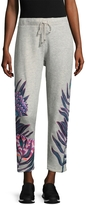 Mara Hoffman Women's Floral Embroidered Sweatpants