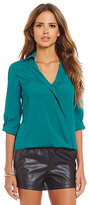 Gianni Bini Fan Fav Leni Cross-Front Blouse