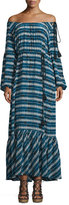 Figue Marlie Printed Maxi Dress, Blue