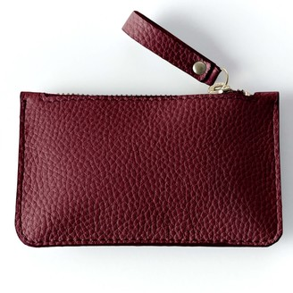 Been London Wilton Way Coin Purse in Red Wine