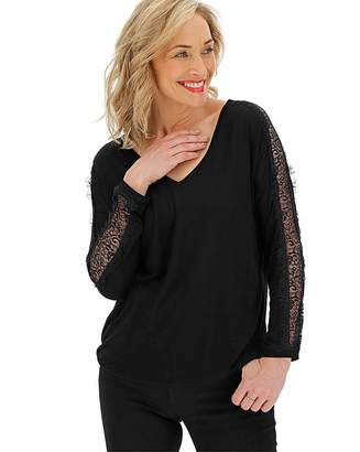 Jdw Black Lace Long Sleeve Top
