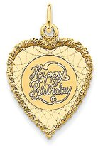 BSE 14k Yellow Gold Happy Birthday Charm (18 x 28 mm)