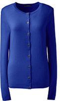 Lands' End Women's Cashmere Cardigan Sweater-Cobalt