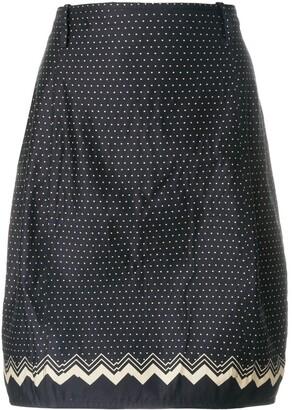 Versace Pre-Owned Polka-Dot Tulip Skirt