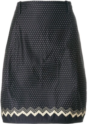Versace Pre Owned Polka-Dot Tulip Skirt