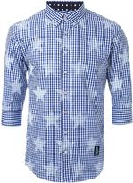 GUILD PRIME star print checked shirt - men - Cotton/Polyester - 1