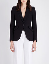 Alexander McQueen Single-breasted crepe jacket