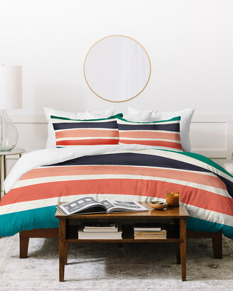 Deny Designs Zoe Wodarz Multi Stripe Duvet Cover Set