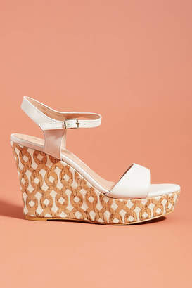 Anthropologie Arden Cork Platform Sandals
