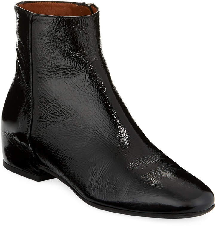 Aquatalia Ulyssa Leather Low-Heel Boot
