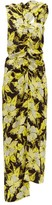 Colville - One-shoulder Floral-print Crepe Maxi Dress - Womens - Yellow Print