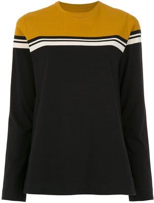 OSKLEN long sleeved color block top