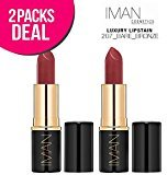Iman (2 PACK Luxury Lip Stain, Lipstick (2257-Bare Bronze)