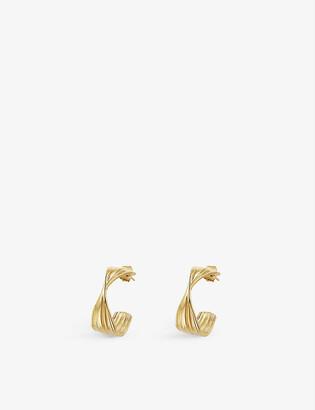 Missoma Wave medium 18ct yellow gold-plated vermeil hoop earrings