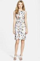 HUGO BOSS BOSS BOSS 'Dazehra' Floral Print Stretch Cotton Sheath Dress
