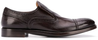 Alberto Fasciani Brogue-Detail Loafers