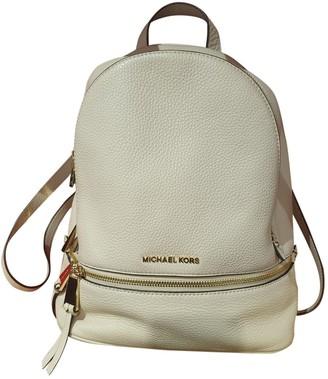 Michael Kors Rhea Pink Synthetic Backpacks