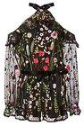 alexis brenna cold shoulder floral romper