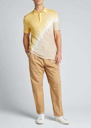 Altea Men's Tie-Dye Stretch-Linen Polo Shirt