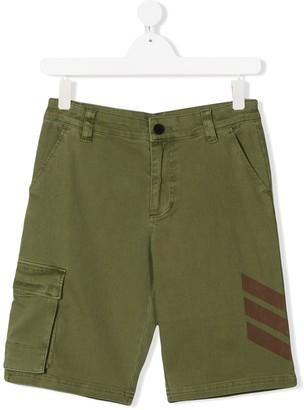 Zadig & Voltaire Kids TEEN striped-detail cargo shorts