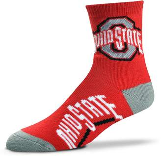 For Bare Feet Adult Ohio State Buckeyes Team Color Quarter-Crew Socks