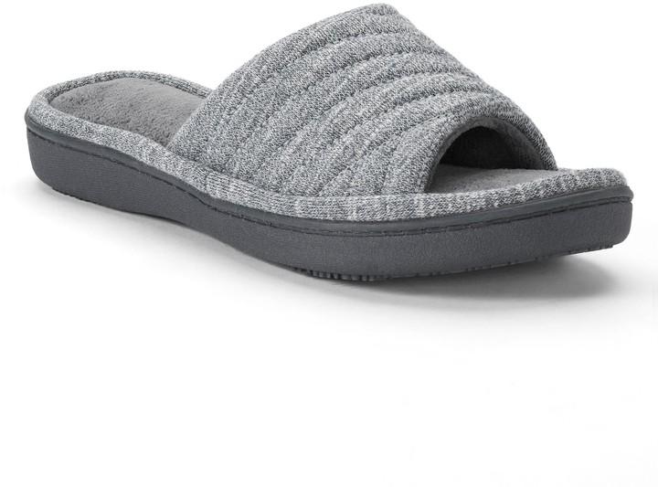 3e3044ebd32f Isotoner Gray Women s Slippers - ShopStyle