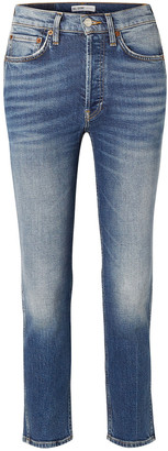 RE/DONE Comfort Stretch 50s Cigarette High-rise Straight-leg Jeans