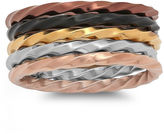 MODERN BRIDE Womens Stainless Steel Stackable Ring