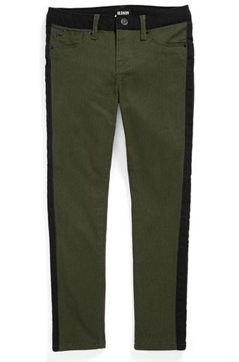 Hudson 'Leeloo' Piped Skinny Jeans (Little Girls)