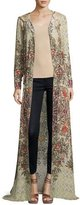 Haute Hippie Sandstorm Hooded Floral Silk Cloak, Talitha