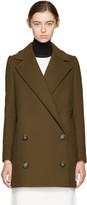 Stella McCartney Khaki Edith Double-Breasted Coat
