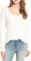 Hinge Ribbed Henley Top